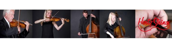 HertzStrings Kulfiber Buer Stretta*** & Brilliante*    Til: Violin, Viola, Cello & Kontrabas