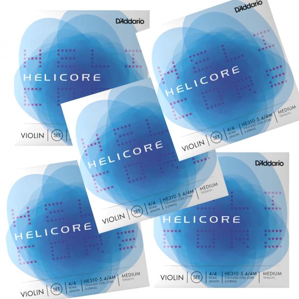 Helicore violin 5 strenget - sæt