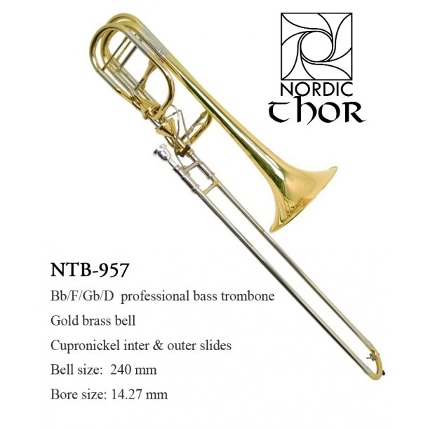 NTB-957 Bb/F/Gb/D Proff. Bass Trombone mod. Thor