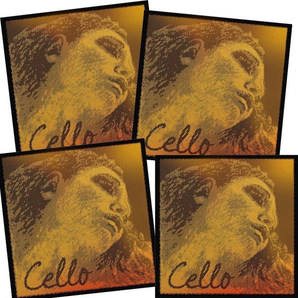 PIRASTRO Evah Pirazzi Gold cello string SET with ball end
