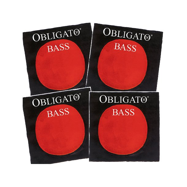 Obligato bass strings SET 1/4 - 1/2 size