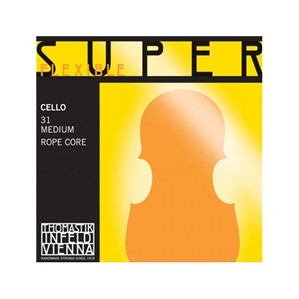 Superflexible cello string C