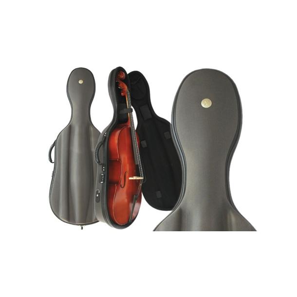 Cello letvægts kasse m. kodelås. 4/4 - 1/2